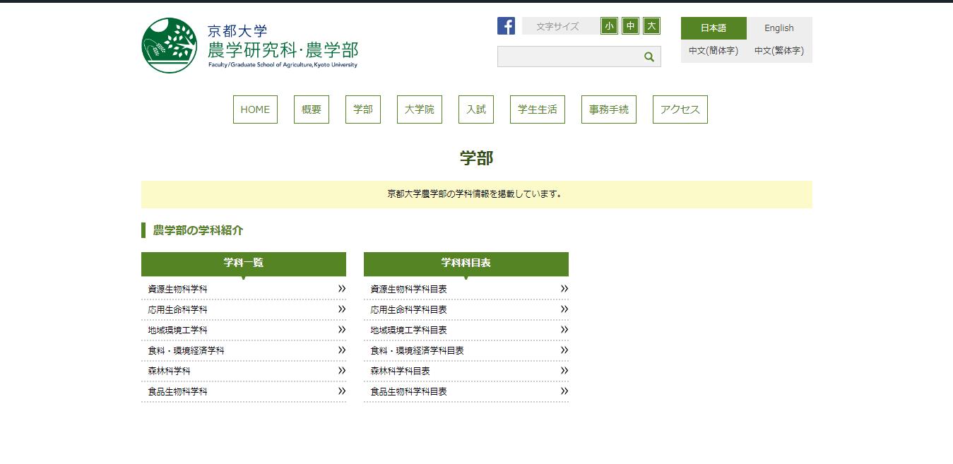 【京都大学】農学部の評判とリアルな就職先